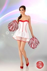 Белое платье Cheerleader S/M
